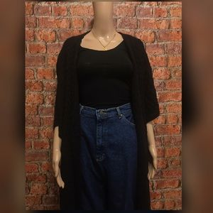 Over size black Loose Sweater